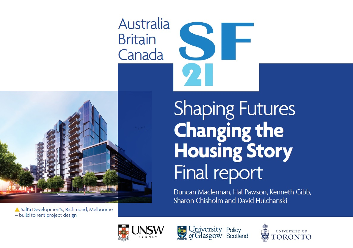 Cover of the Shaping Futures Changing the Housing Story report